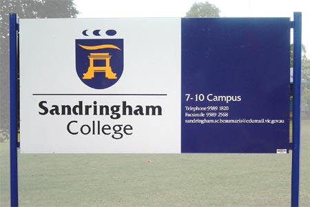 sandringham custom frame Sign