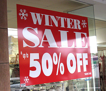 Shop Window Sale Signage